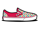 Dots, Magenta, Retro, Vans Icon