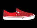 Glitter, Red, Vans Icon
