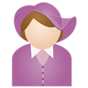 Hat, Miss, Purple Icon