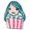 a, Box, Girl, In, Ll Icon