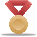 Bronze, Metal, Red Icon
