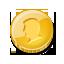 Coin, Gold, Single Icon