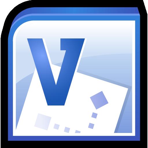 Microsoft, Office, Software, Visio Icon