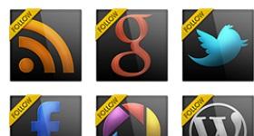 Black Gloss Social Icons