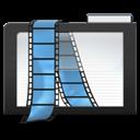 Dark, Folder, Videos Icon