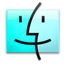 Aqua, Finder, Leopard Icon