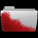 Bloody, Folder, Gray Icon