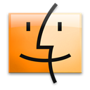 Finder, Leopard, Orange Icon