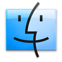 Finder, Leopard, Sky Icon
