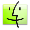 Finder, Leopard, Lime Icon