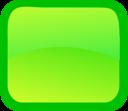Green, Rectangle Icon