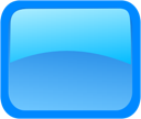 Blue, Rectangle Icon