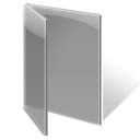 Folder, Gray, Open Icon
