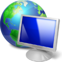 Browser, Computer, Earth, Monitor, Screen Icon