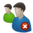 Delete, Forum, Two, User, Users Icon