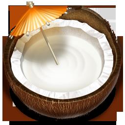 Coconut, Drink, Fruit Icon