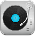 Blue, Music, Player, Record Icon