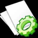 Documents, Exec, White Icon