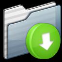 Box, Drop, Folder, Graphite Icon