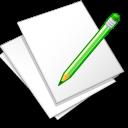 Documents, Edit, White Icon