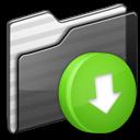 Black, Box, Drop, Folder Icon