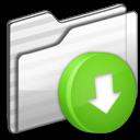 Box, Drop, Folder, White Icon