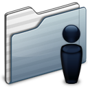 Folder, Graphite, Users Icon