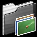 Black, Folder, Wallpaper Icon
