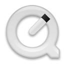 Quicktimeplayer, White Icon