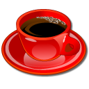 Coffeecup, Red Icon