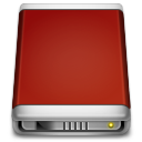 Drive, Internal, Red Icon