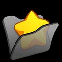 Black, Favourite, Folder Icon
