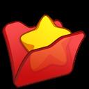 Favourite, Folder, Red Icon