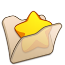 Beige, Favourite, Folder Icon