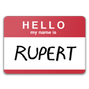 Hello, Is, My, Name, Rupert Icon
