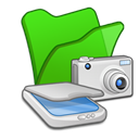 , &Amp, Cameras, Folder, Green, Scanners Icon