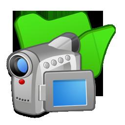 Folder, Green, Videos Icon