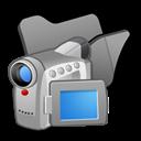 Black, Folder, Videos Icon
