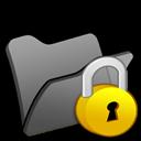 Black, Folder, Locked Icon