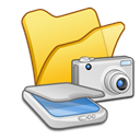 , &Amp, Cameras, Folder, Scanners, Yellow Icon
