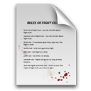 Club, Fight, Of, Rules Icon