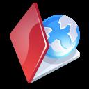 Folder, Red, Web Icon