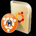 Box, Disc, Ubuntu Icon