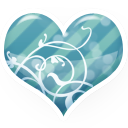 Blue, Heart Icon