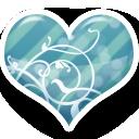 Blue, Heart Icon