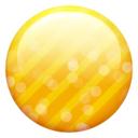 Button, Gold Icon