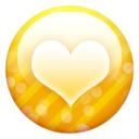 Button, Gold, Heart Icon