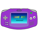Advance, Gameboy, Icon, Purple Icon