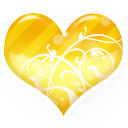 Gold, Heart Icon