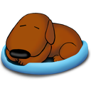 Dog, Old, Sleeping Icon